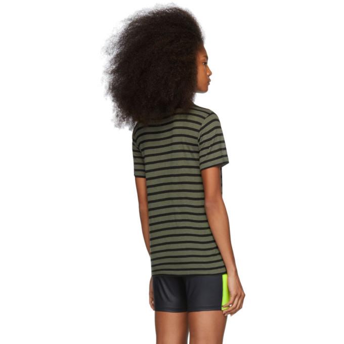 alexanderwang.t Khaki Striped Slub T-Shirt