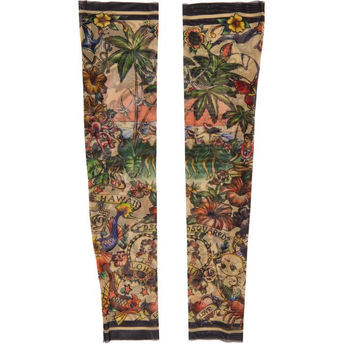 Photo: Dsquared2 Multicolor Hawaiian Tattoo Sleeves