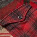 RRL - Patchwork Cotton and Wool-Blend Flannel Overshirt - Red