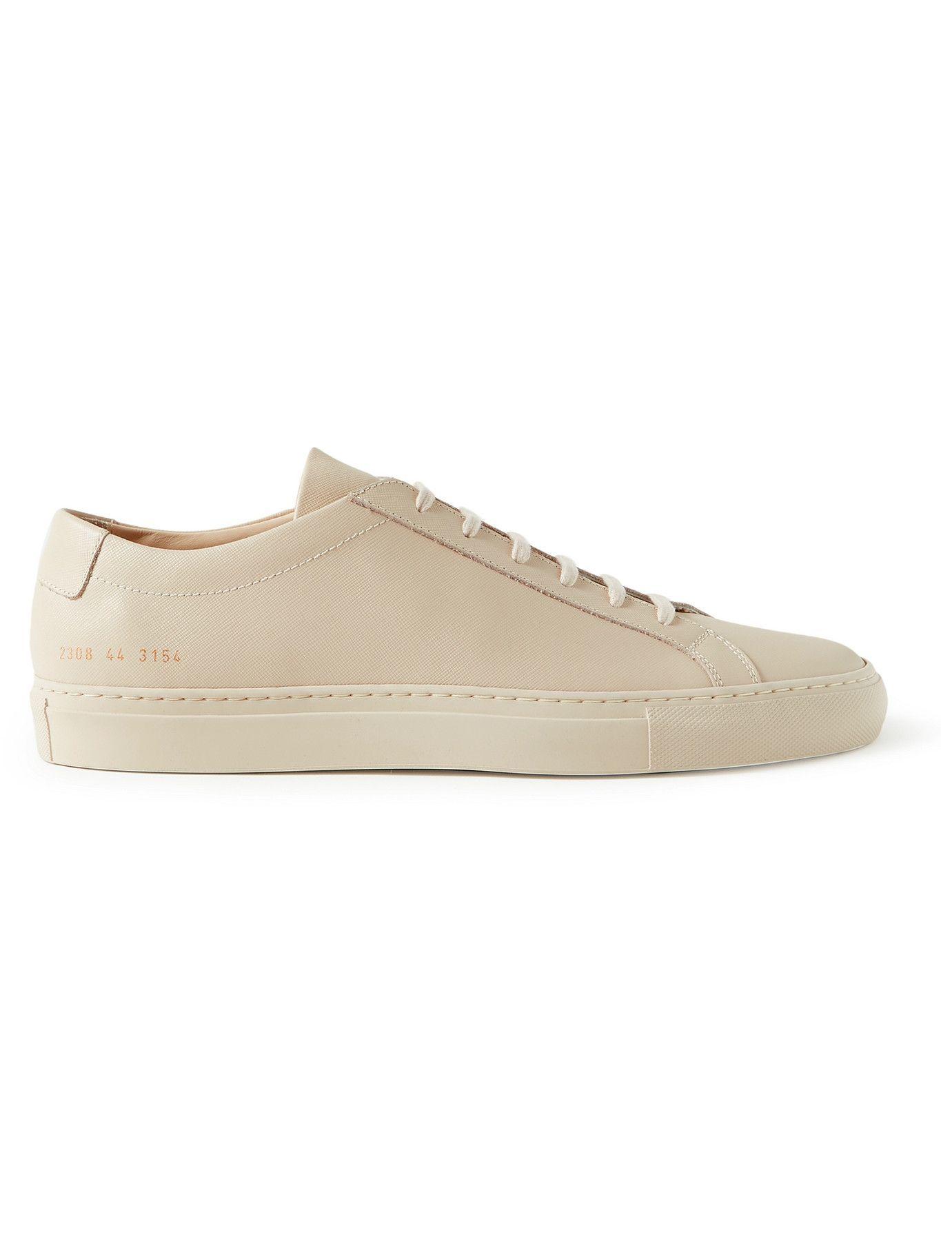 Photo: Common Projects - Original Achilles Saffiano Leather Sneakers - Neutrals