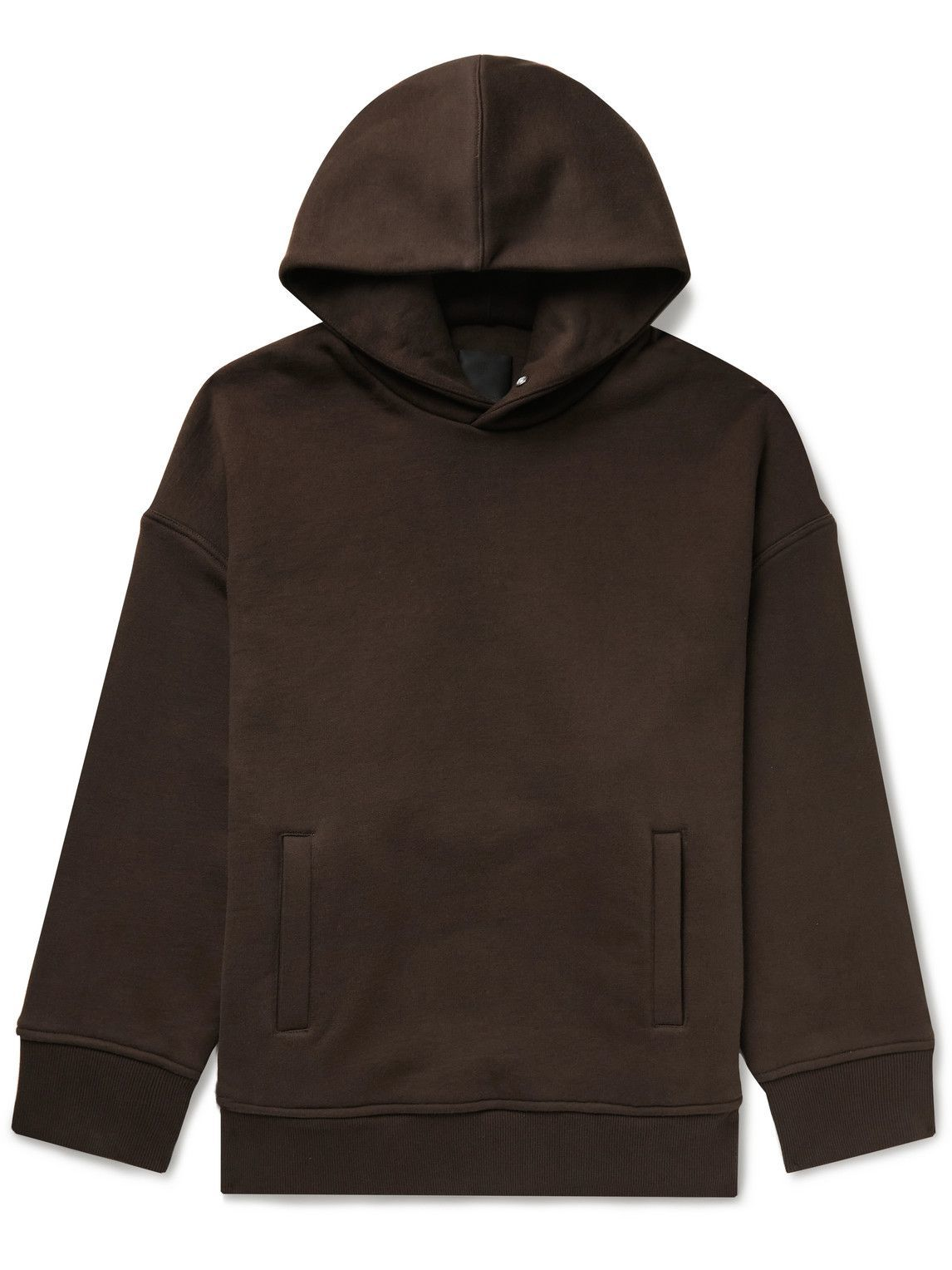 Photo: Givenchy - Oversized Cotton-Jersey Hoodie - Brown