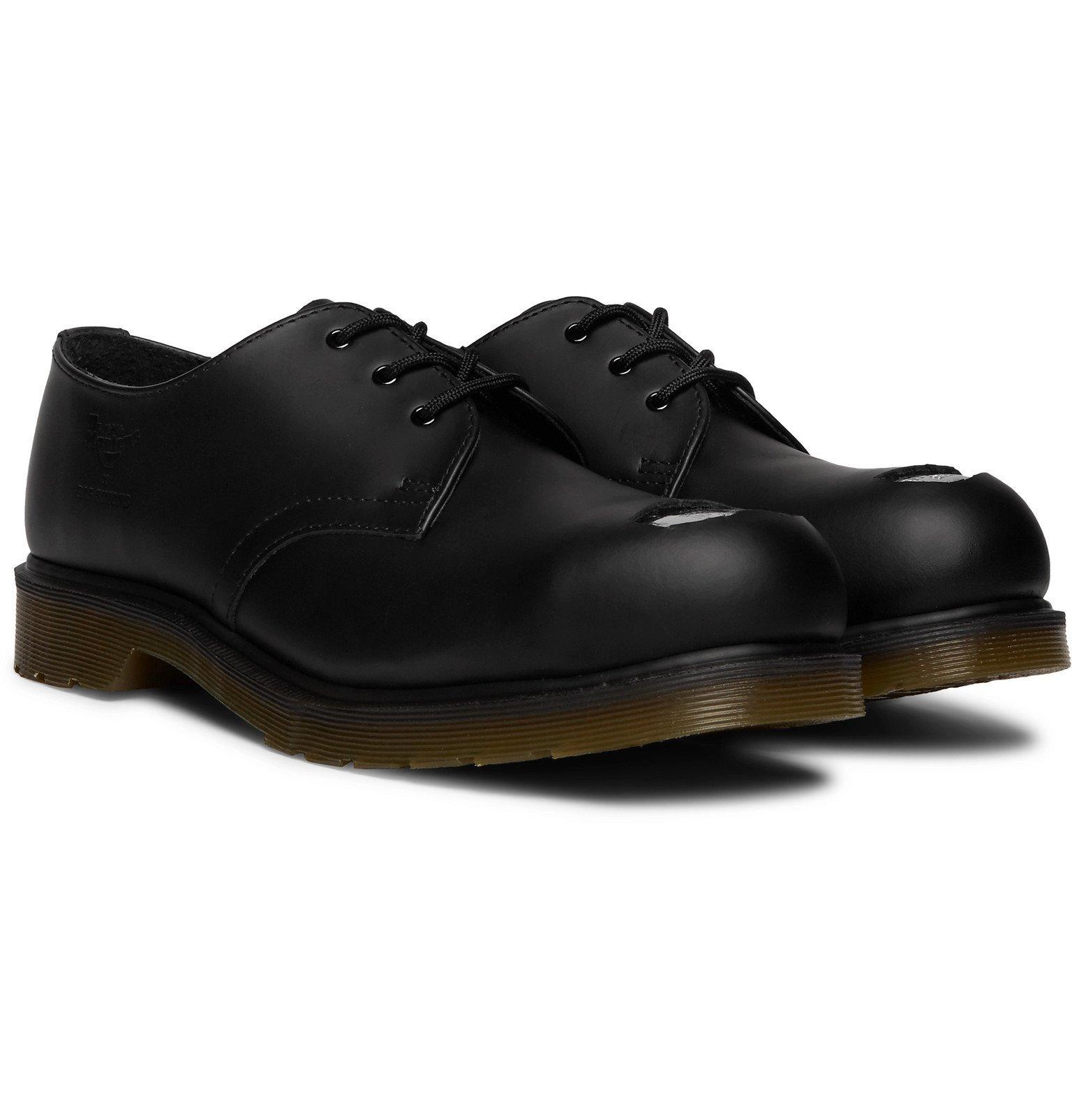Raf Simons - Dr. Martens Leather Derby Shoes - Black