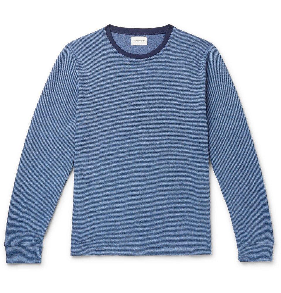 Photo: Oliver Spencer - Serra Striped Organic Cotton-Jersey T-Shirt - Navy
