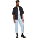 3.1 Phillip Lim Navy Wide Cuff Boxy Shirt