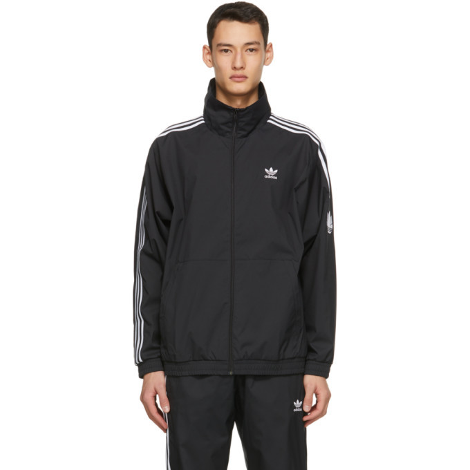 Photo: adidas Originals Black 3D Trefoil Track Jacket