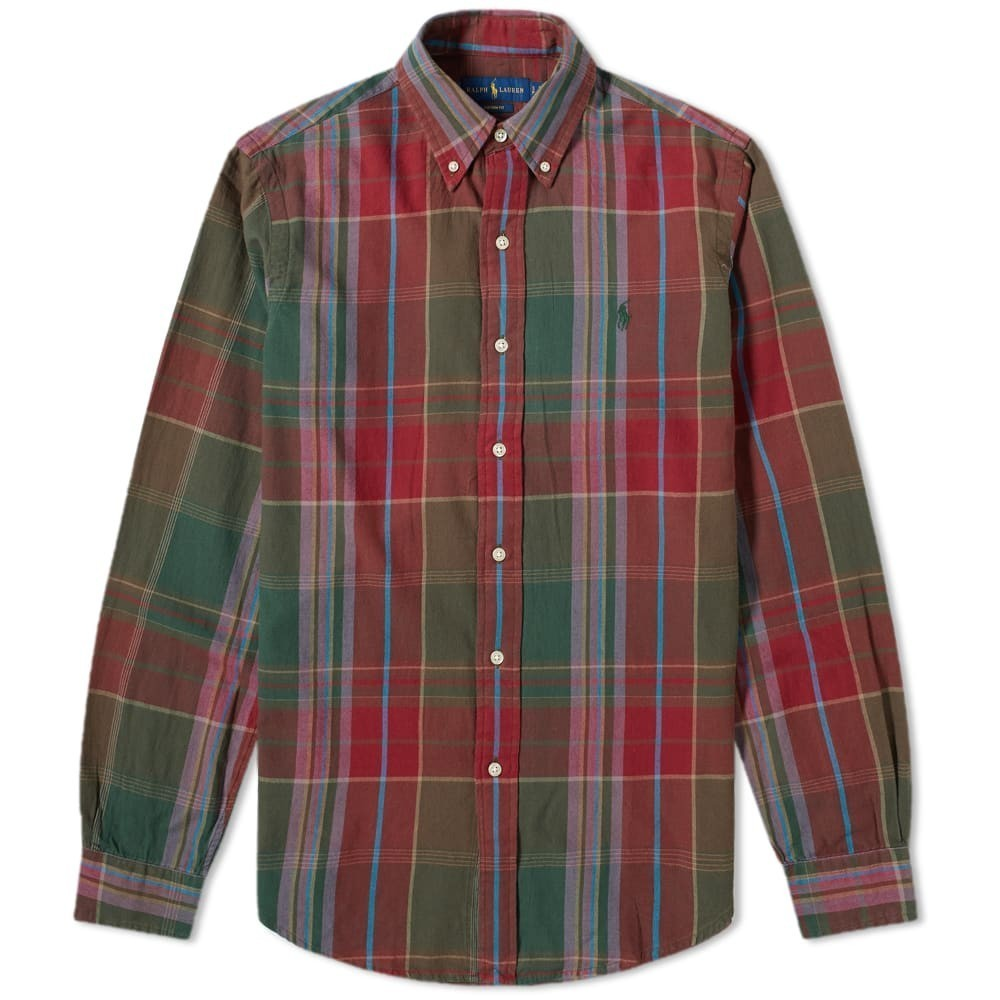 Photo: Polo Ralph Lauren Madras Check Button Down Shirt