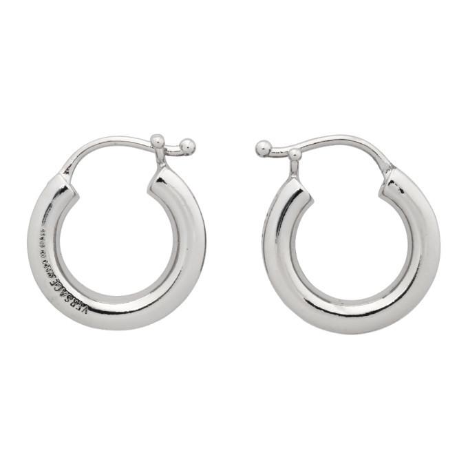 Photo: Versace Silver Small Greca Hoop Earrings