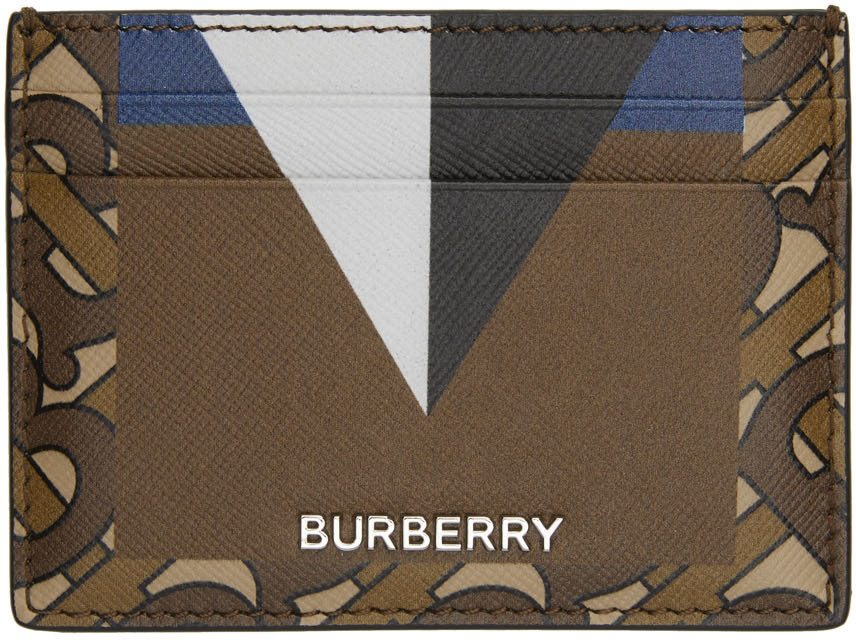 Photo: Burberry Brown & Black TB Sandon Card Holder