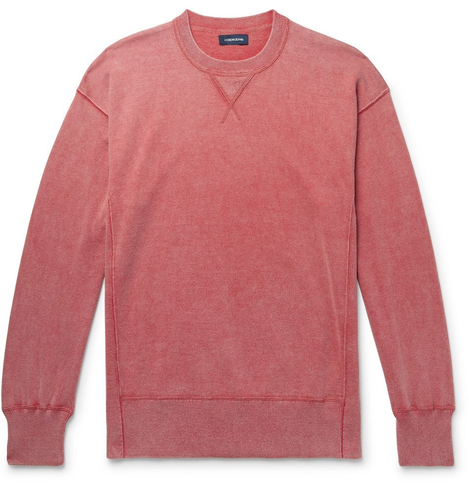 Photo: J.Crew - Mélange Cotton Sweatshirt - Brick