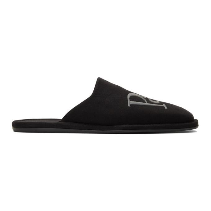 Photo: Balenciaga Black Jersey Eiffel Tower Cozy Slippers