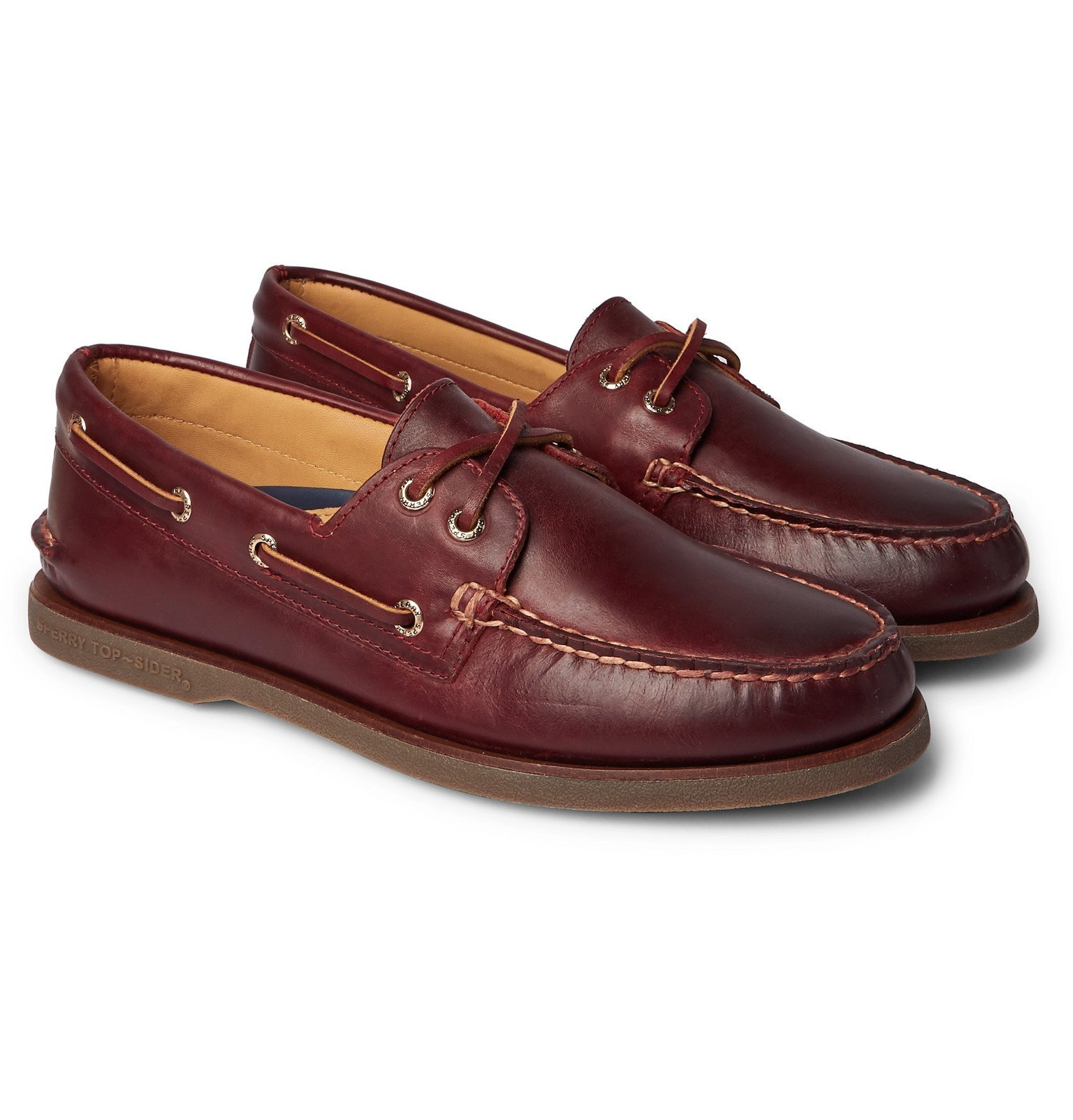 Photo: Sperry - Gold Cup Leather Boat Shoes - Burgundy
