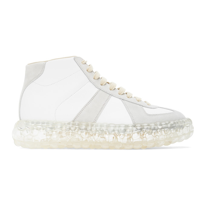 Photo: Maison Margiela White Caviar High-Top Sneakers