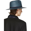 Giorgio Armani Blue Straw Hat