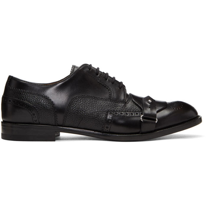 Photo: Alexander McQueen Black Buckle Toe Brogues