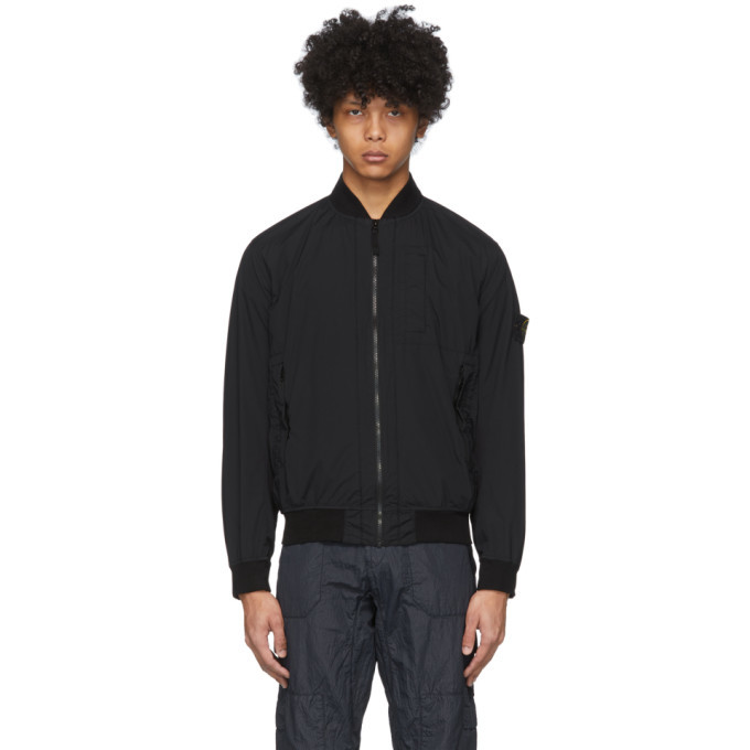 Photo: Stone Island Black Packable Skin Touch Jacket
