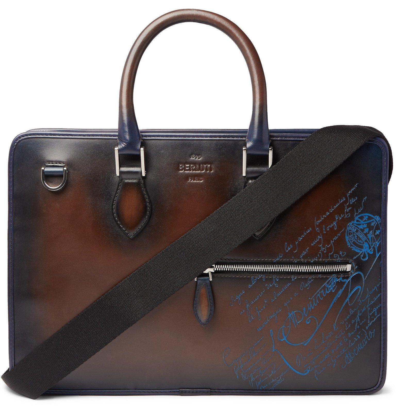 Photo: Berluti - Scritto Leather Briefcase - Blue