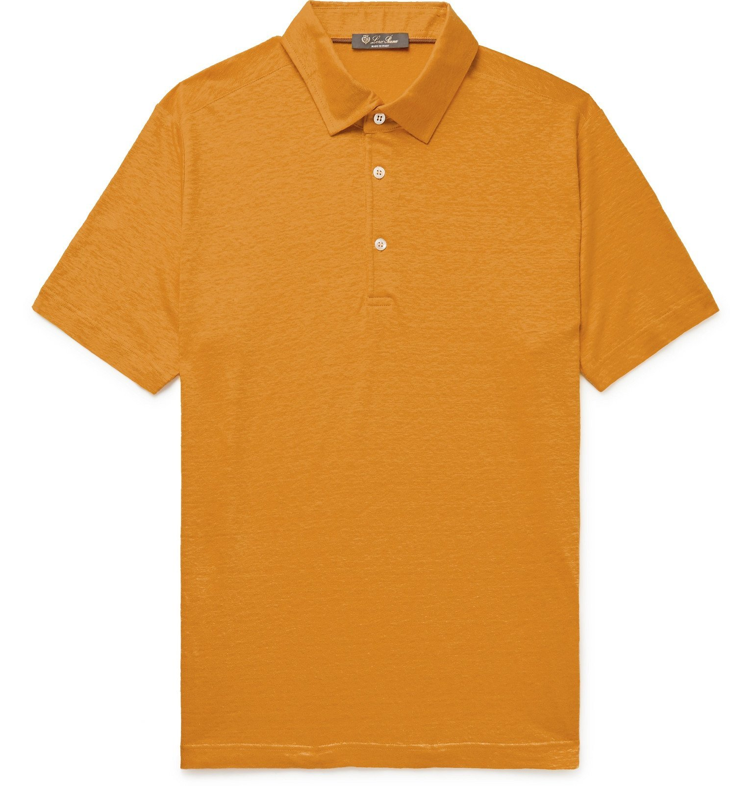 Photo: Loro Piana - Linen-Jersey Polo Shirt - Yellow