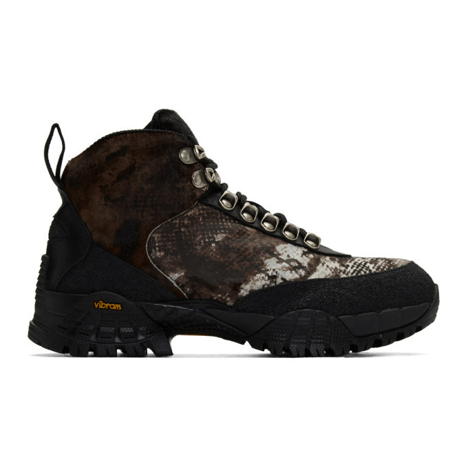 Photo: 1017 ALYX 9SM Brown and Black Hiking Boots