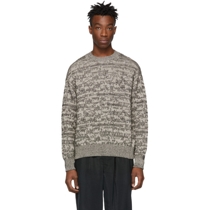 Photo: Lemaire Grey Jacquard Sweater