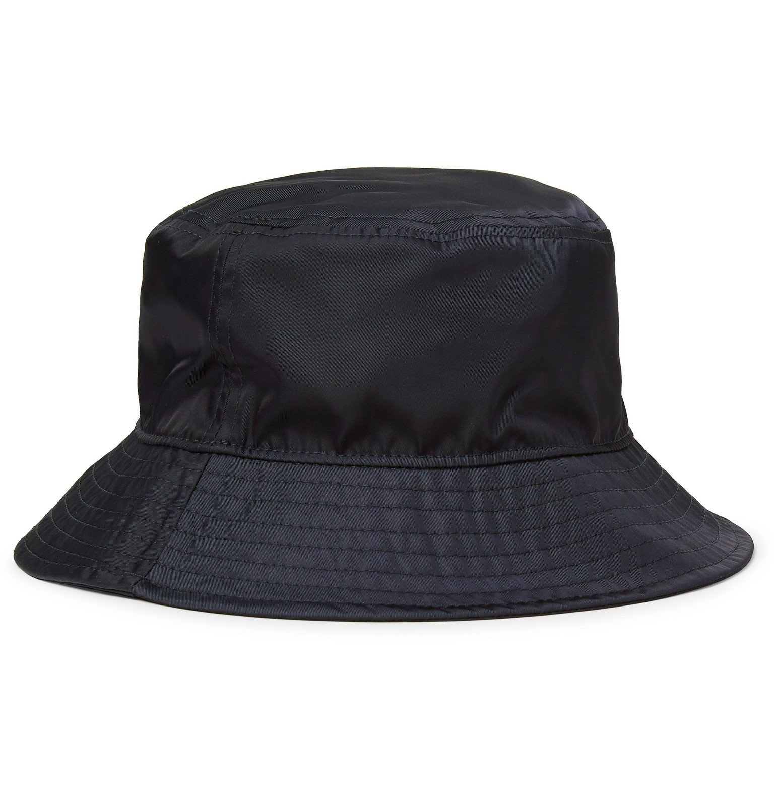 Moncler - Logo-Appliquéd Nylon Bucket Hat - Blue