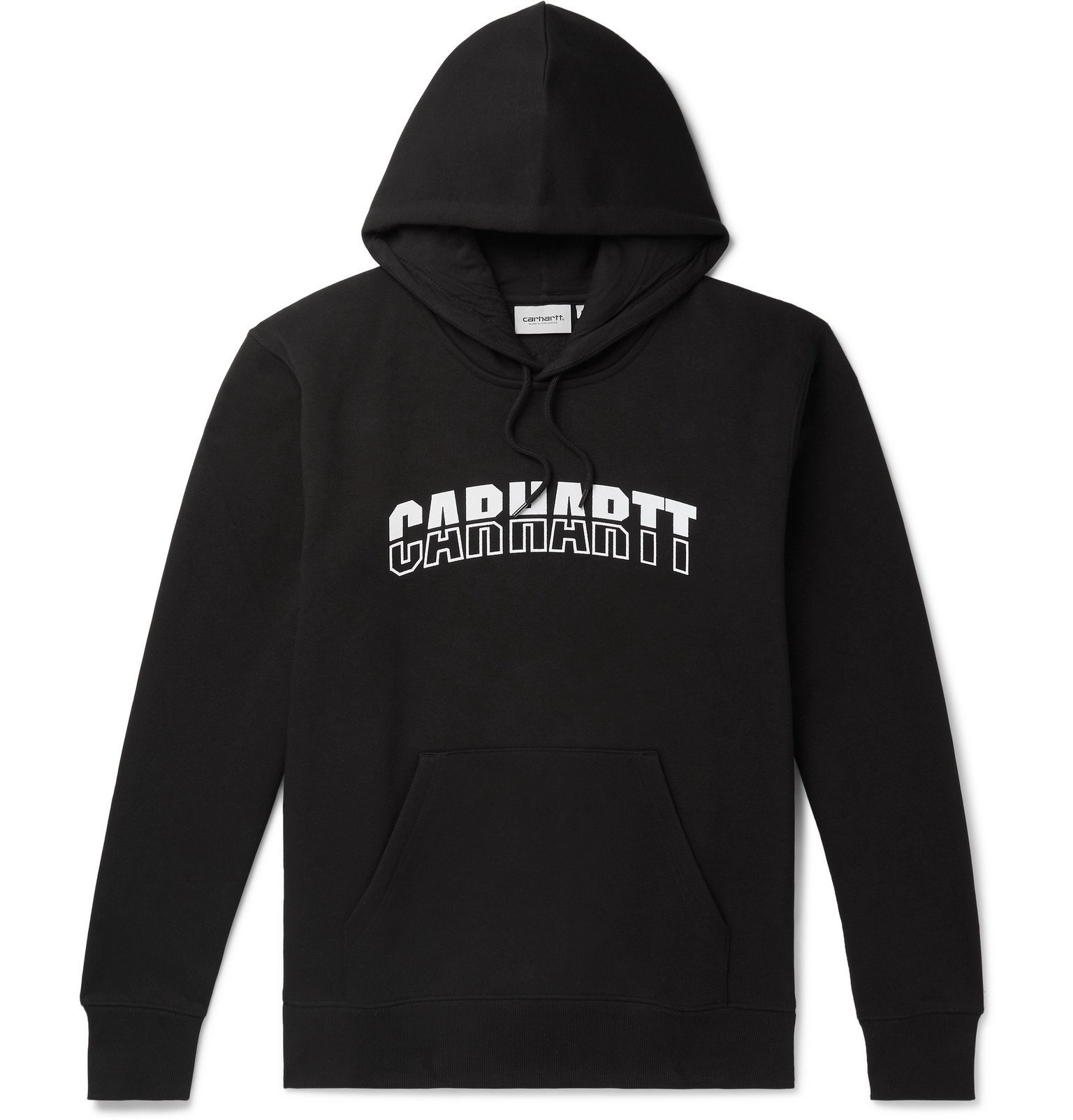 Photo: Carhartt WIP - District Logo-Print Fleece-Back Cotton-Blend Jersey Hoodie - Black