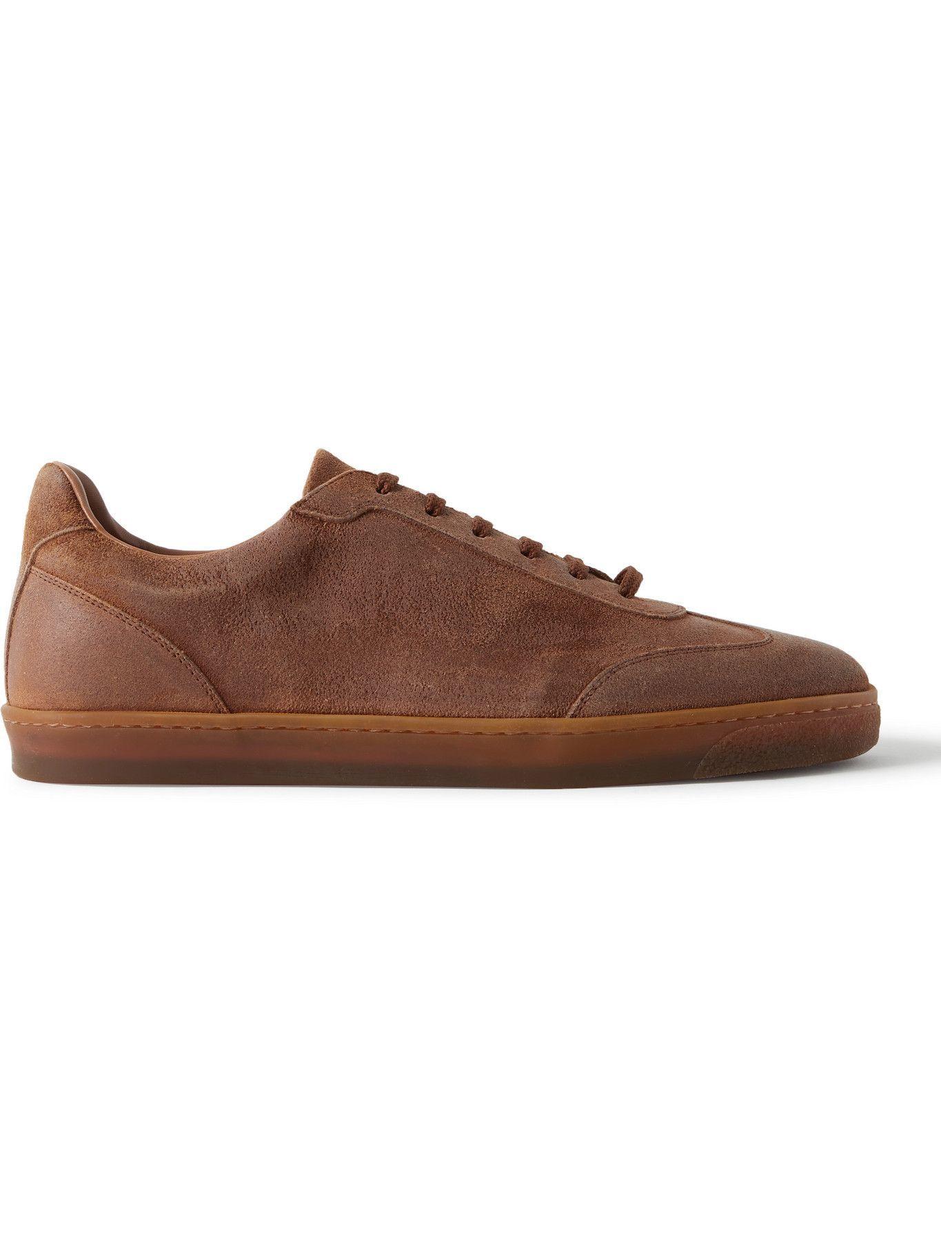 Photo: Brunello Cucinelli - Suede Sneakers - Brown