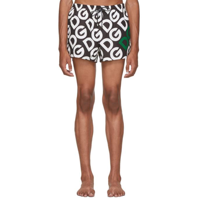 Photo: Dolce and Gabbana Black Logo Swim Shorts