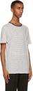 Sunspel Off-White & Navy Striped T-Shirt