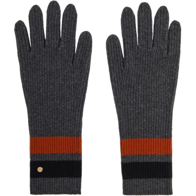 Photo: Burberry Grey Merino Monogram Gloves