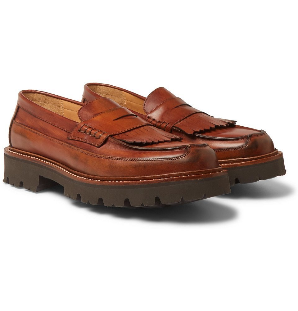 Photo: Grenson - Leather Kiltie Loafers - Brown