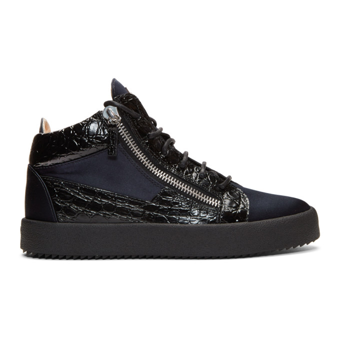 Photo: Giuseppe Zanotti Black and Navy May London High-Top Sneakers
