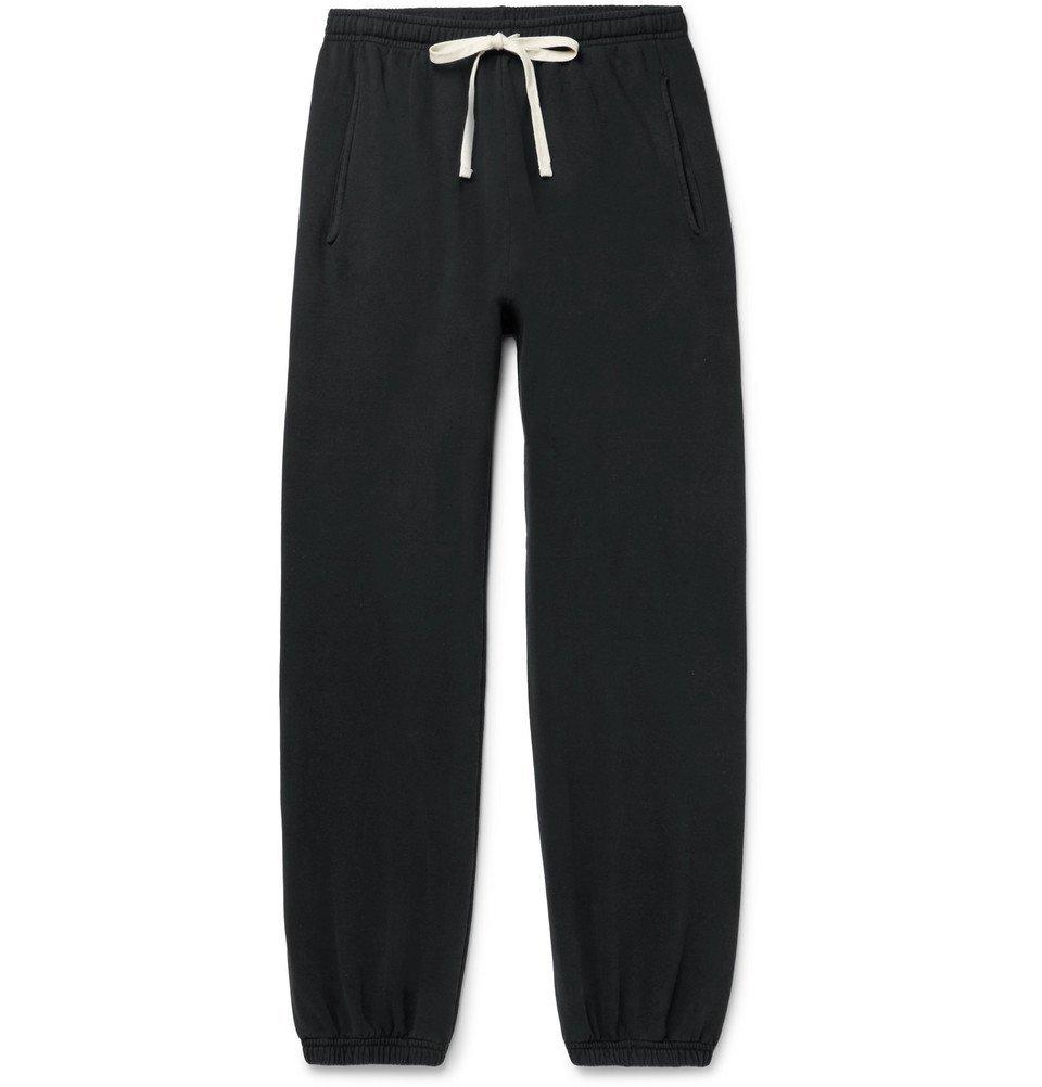 Photo: BILLY - Loopback Cotton-Jersey Sweatpants - Black
