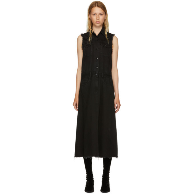Black Just Wash Sleeveless Denim Dress Maison Martin Margiela Manchester Online Particular New Styles Cheap Price JTS8Oxa
