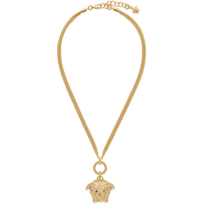 Versace gold medusa pendant necklace versace underwear versace gold medusa pendant necklace aloadofball Images
