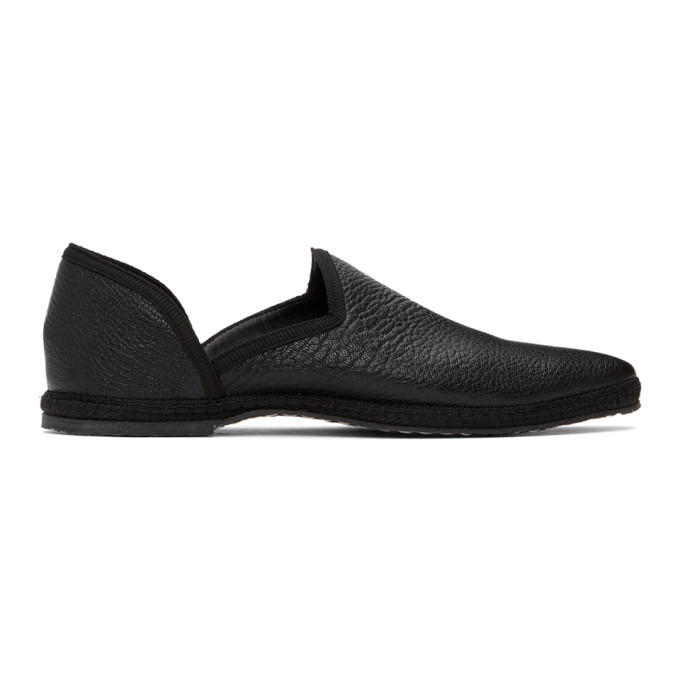 Photo: The Row Black Friulane Loafers
