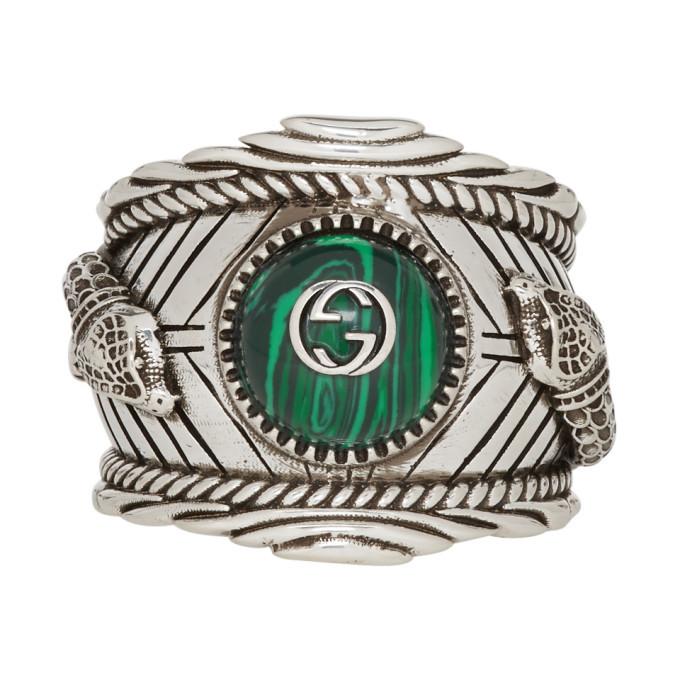 Photo: Gucci Silver Garden Logo Ring