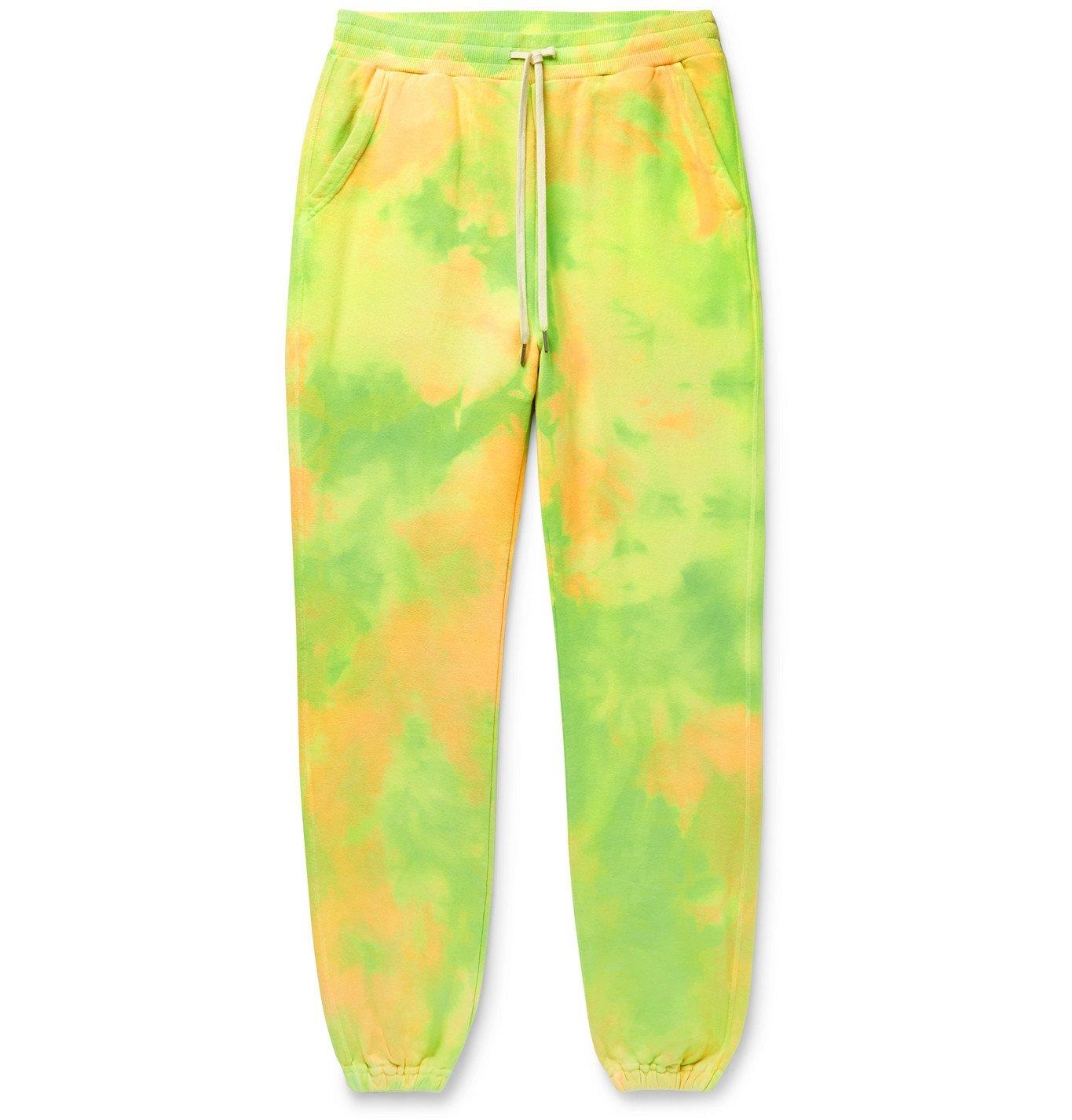 Photo: John Elliott - LA Tapered Tie-Dyed Loopback Cotton-Jersey Sweatpants - Multi