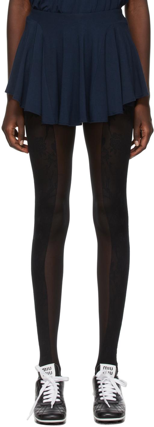 Kathryn Bowen Navy Skater Miniskirt