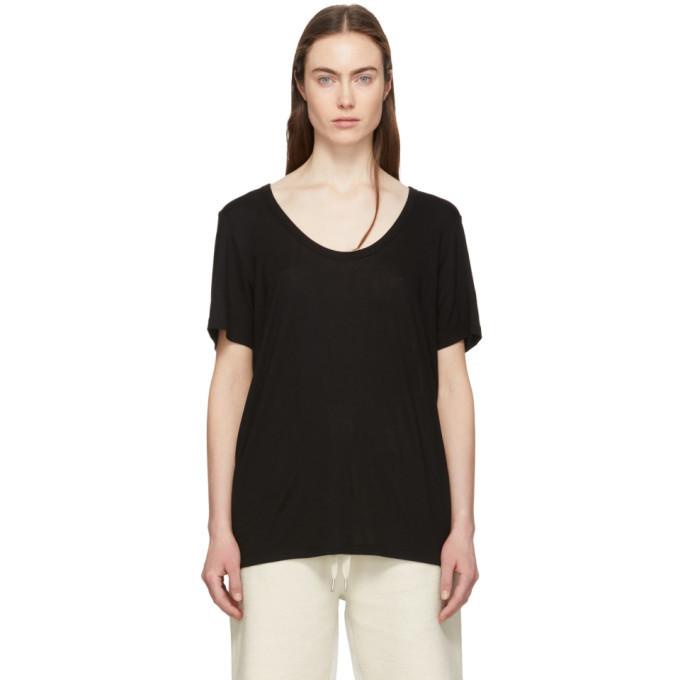 alexanderwang.t Black Drapey T-Shirt