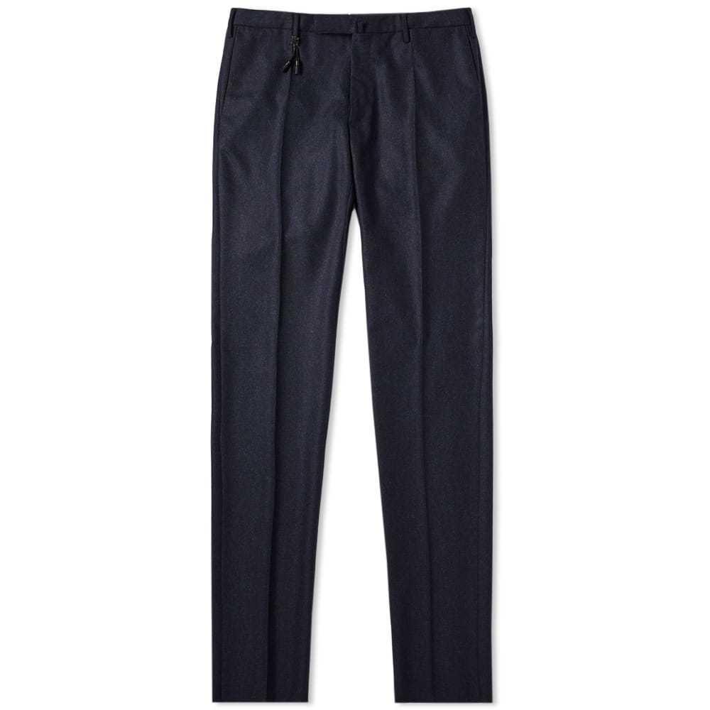 Photo: Incotex Slim Fit Wool Flannel Trouser Blue