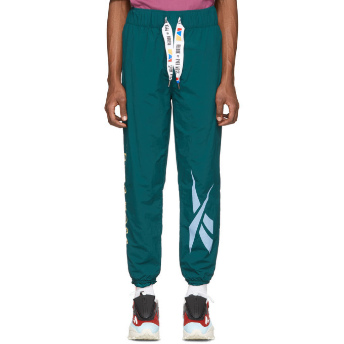 Photo: Reebok by Pyer Moss Green Collection 3 Franchise Track Pants