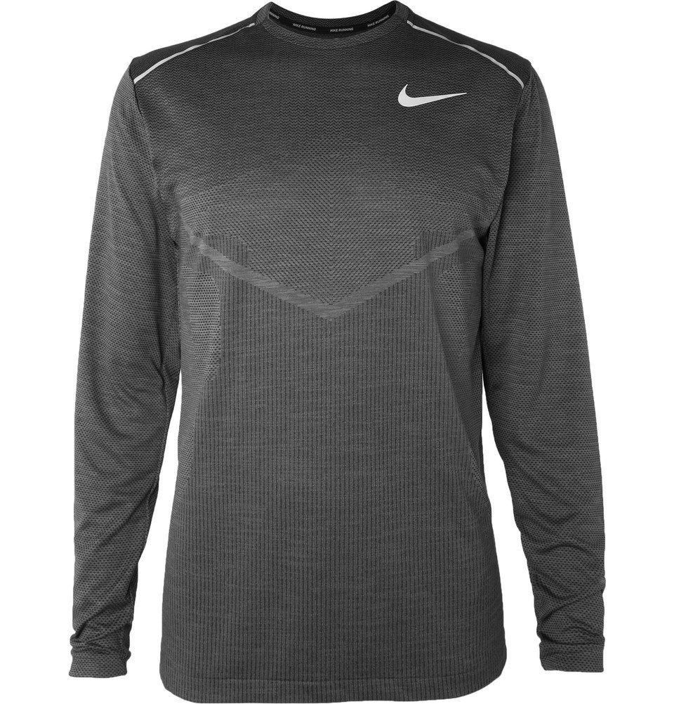 Nike Running - TechKnit Cool Ultra Dri-FIT T-Shirt - Men - Charcoal