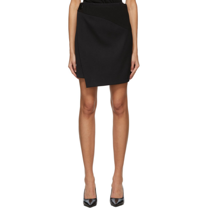 Photo: Givenchy Black Wool Wrap Miniskirt