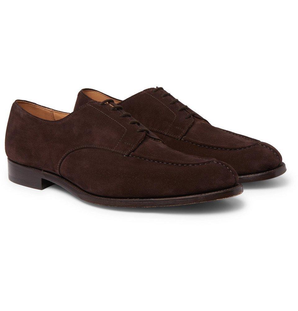Photo: Tricker's - Abingdon Suede Derby Shoes - Brown