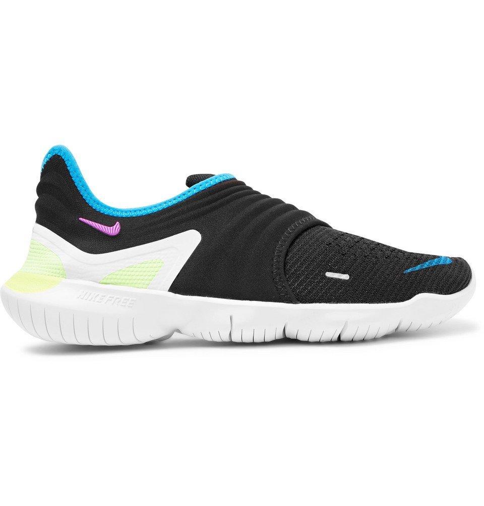 Photo: Nike Running - Free RN 3.0 Flynit and Neoprene Slip-On Sneakers - Black