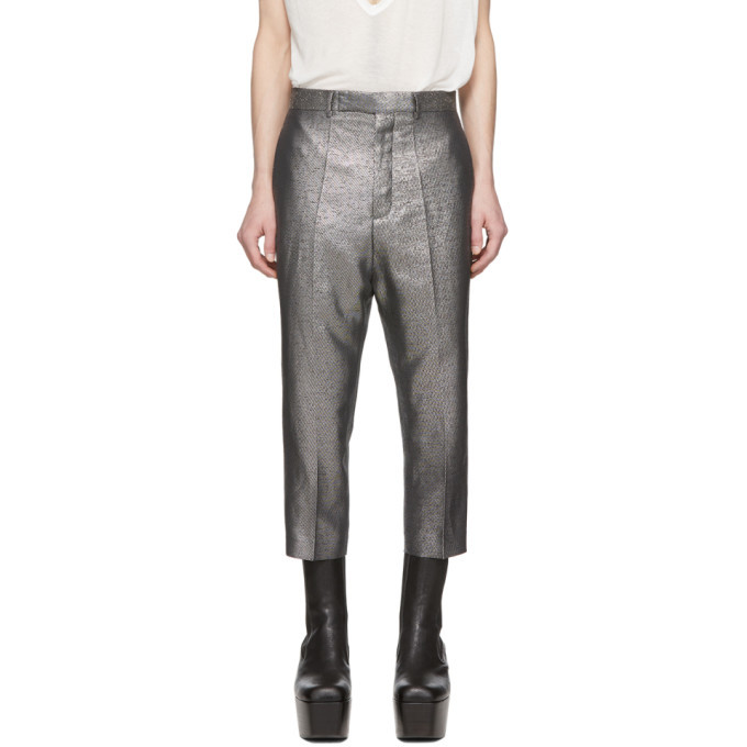 Photo: Rick Owens Silver Astaires Cropped Trousers