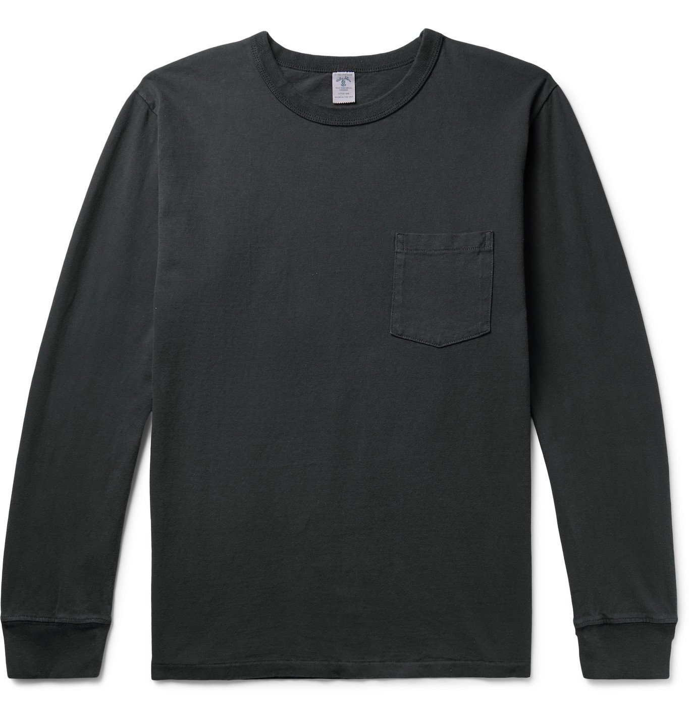 Photo: Velva Sheen - Pigment-Dyed Cotton-Jersey T-Shirt - Gray