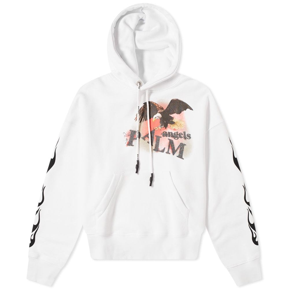 Photo: Palm Angels Flame Eacgle Popover Hoody