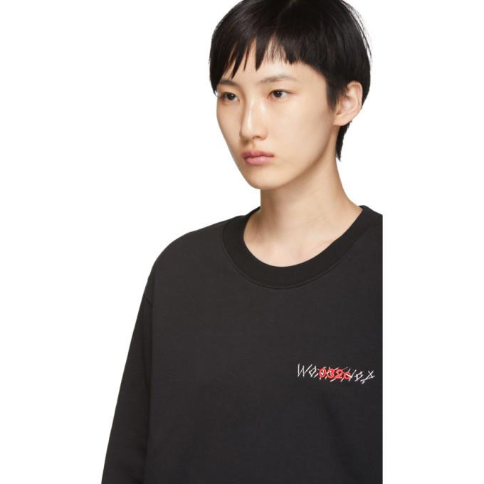 032c Black Embroidery Pin Sweatshirt