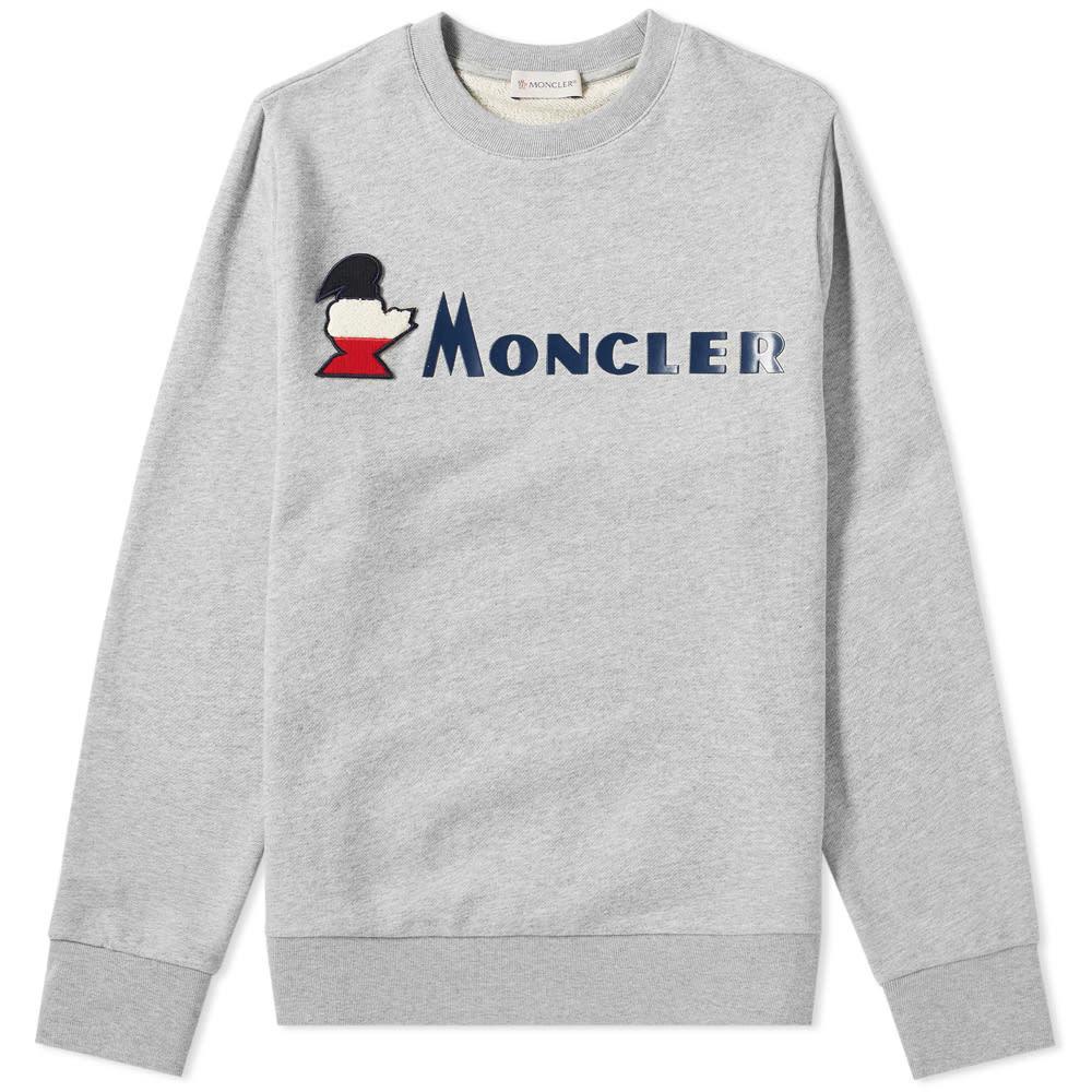 Photo: Moncler Logo Text Crew Sweat Grey